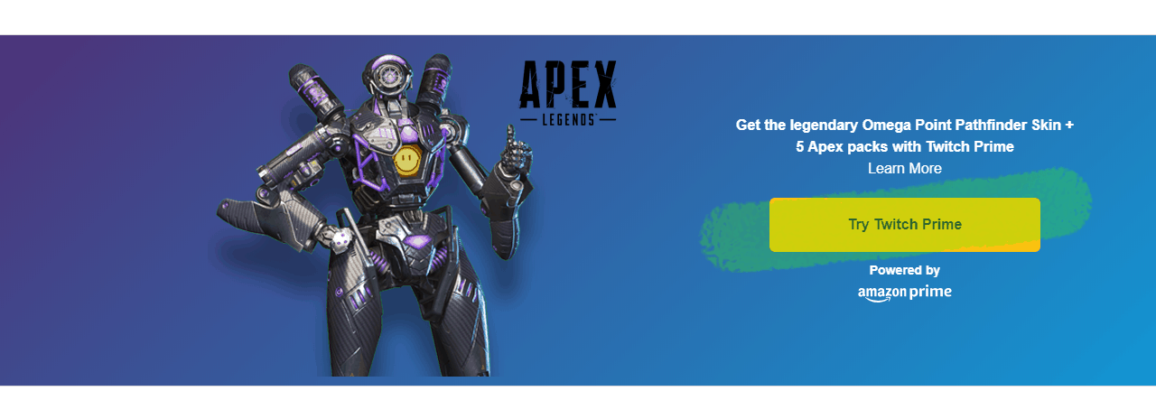Get Your Twitch Prime Rewards on Apex Legends - FREE Skin