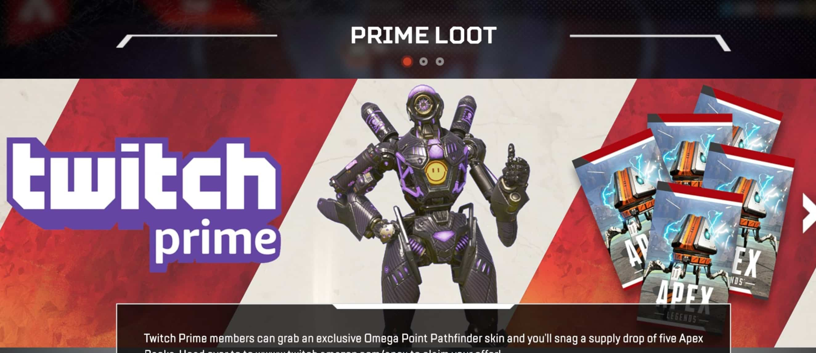 apex legends twitch prime pack free