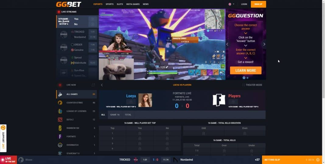 bet on streamers