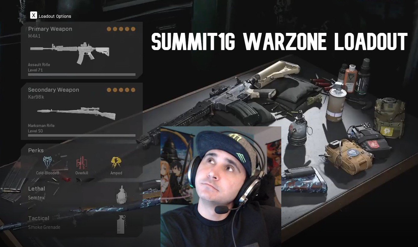 Summit1g loadout warzone call of duty