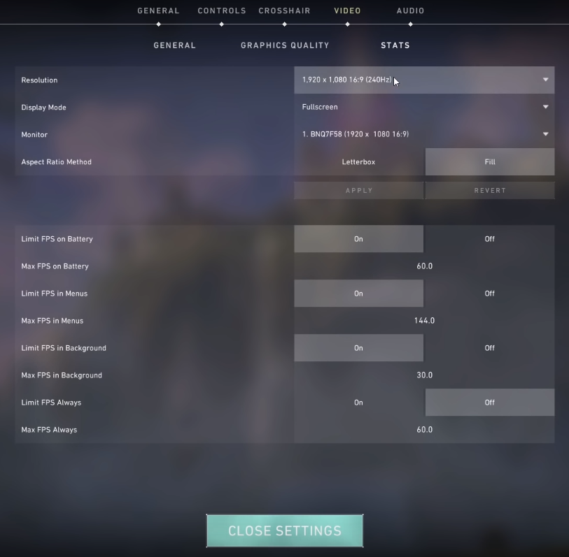 valorant best settings for fps
