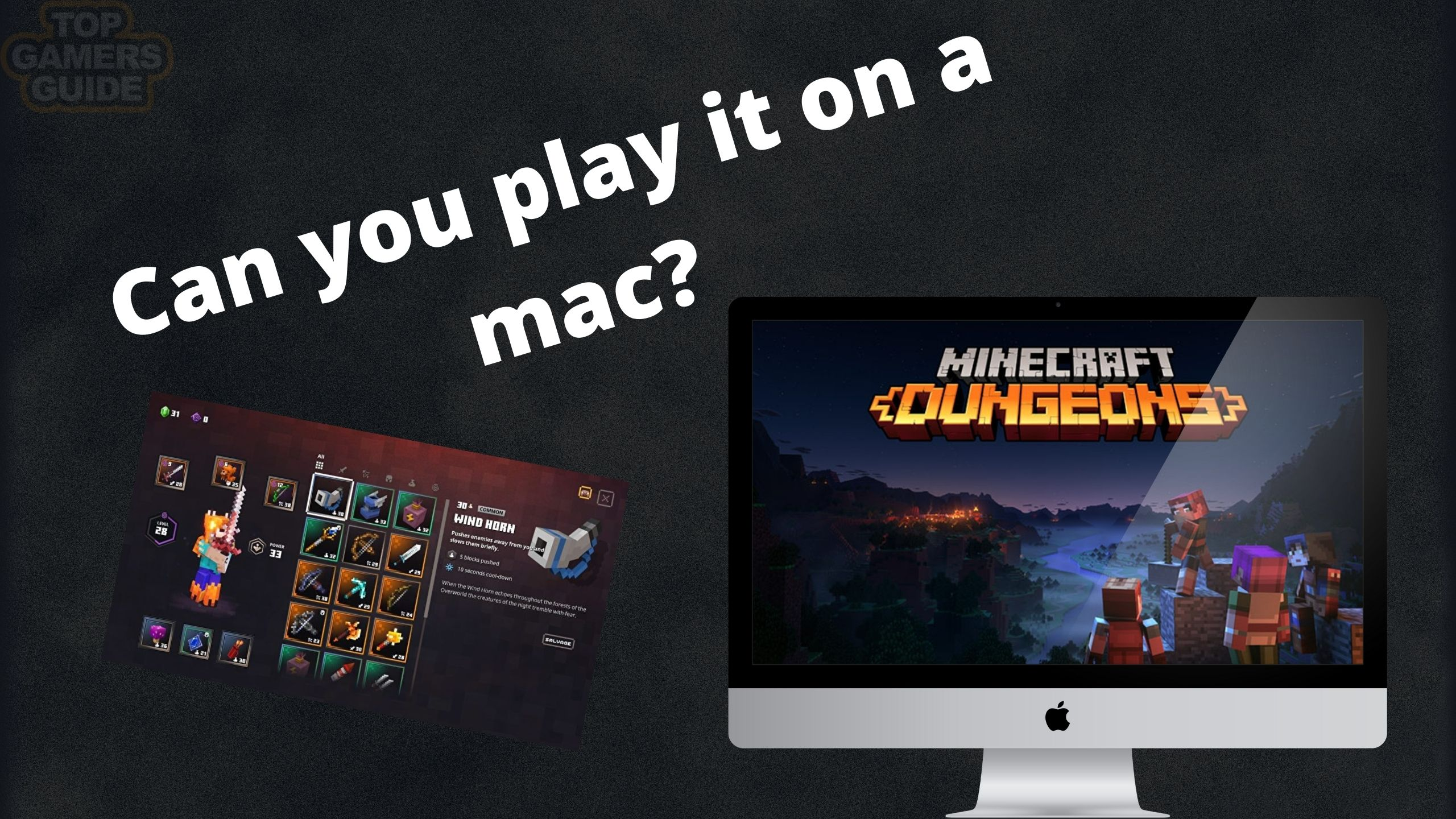 how to play minecraft dungeons on mac