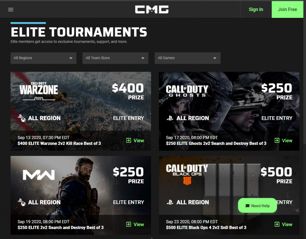 Checkmate Gaming tourney cod